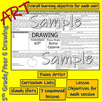 Art and Design Scheme for 5th Grade (US)/Y6 (UK)