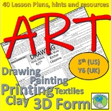 Art Lesson Plans for 5th Grade (Y6 UK). Artists, resources, skills and hints