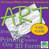 Art Lesson Plans for K (US) Y1 (UK) 42 lessons, resources, hints and tips