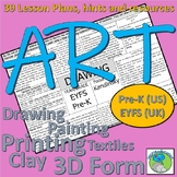 Art Lesson Plans for PreK learners - objectives, resources, artists, hints