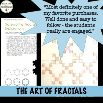 Fibonacci Sequence, Tessellations and Fractals Math Enrichment Activity Bundle