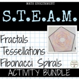 Fibonacci Sequence, Tessellations and Fractals Math Enrichment Activity Bundle