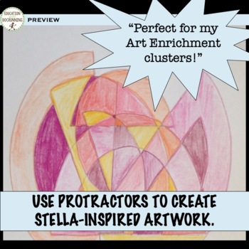 Circle Activity  Using protractors inquiry with art! Great for enrichment!
