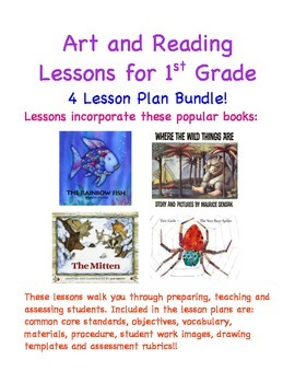 Art and Reading Lessons for 1st Grade - Four Lesson Plan Bundle!
