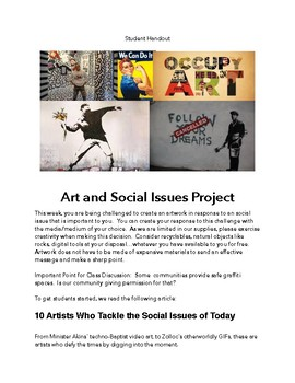 Art and Social Issues Project Self Evaluation