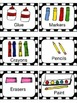 Art and Toy Labels for Preschool Classroom
