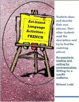 Art based language activities FRENCH