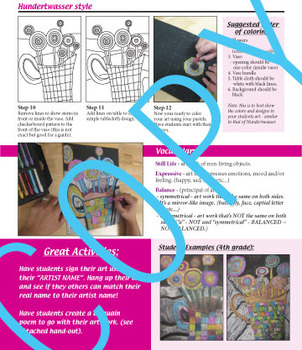 """Art book """"the creative classroom"""" - common core content (64 pages)"""