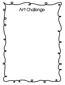 Art challenge printable
