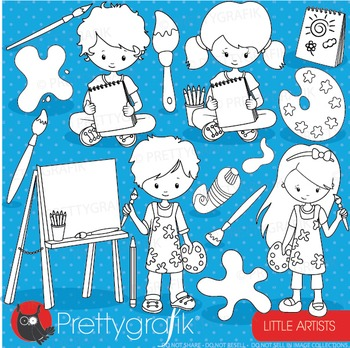 Art class stamps commercial use, vector graphics, images, artists - DS908