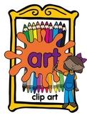 Art classroom clip art