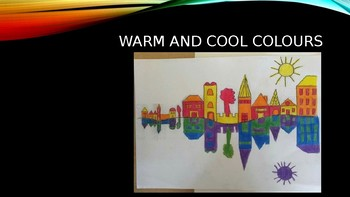 Art cool and warm colour presentation