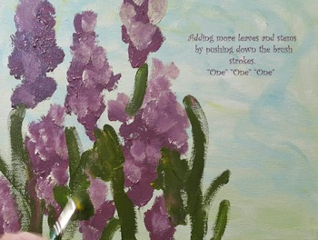Art for Special Needs /simple steps to paint Lavender