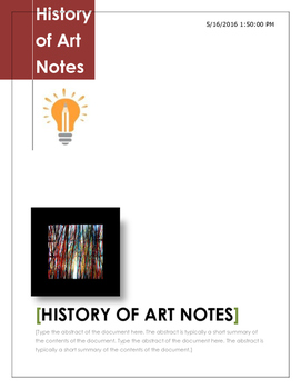 Art hHistory Notes