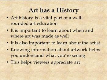 Art has a History: How to Look at and Talk about Art