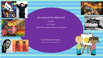Art history around the world 2: No prep lessons with fun projects