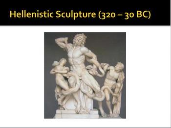 Art history: Prehistoric; Mesopotamia, Egypt, Greece, Rome; Asia; Byzantine