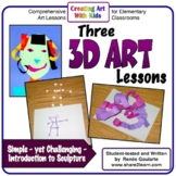 Art Lesson Bundle 3D Art Introduction to Sculpture