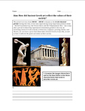 Art and Literature in Ancient Greece Worksheet