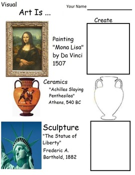 What is Art All About?  (4 pages, with Teacher's Guide), Art Lesson