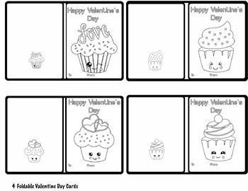 Art is ... 9 Animal Valentine's Day Cards - Ready to Color (4 pages)
