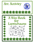 A Wee Art Book for Leprechauns (4 printable pages)