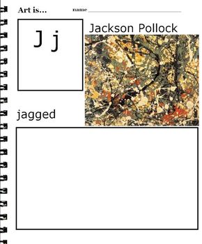 Art ABC's of Artists and Art Vocabulary (33 printables) 3rd-6th