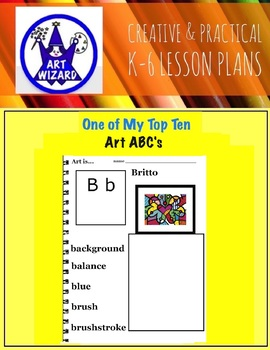 Art ABC's of Artists and Art Vocabulary (33 printables) 3rd-6th, Art Lesson