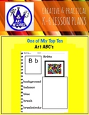 Art ABC's with Visual Art Examples (33 pages) 3rd-6th, Art