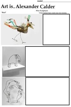 Alexander Calder (Paper Sculpture Project, 9 Printables) Art Lesson,  Artist