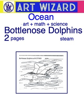 Art Science ... Art & Math Bottlenose Dolphins - STEAM (2 pages)