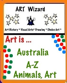 Art Science ... Australia A-Z  Animals (24 pages, Coloring