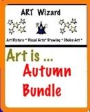 Autumn Art Bundle (Coloring, Math, Designing) 16 pages
