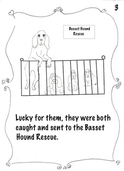 "Art ...  ""Bella's Adoption""True Dog Story-Make Booklet, Read,Color (8 pgs)"