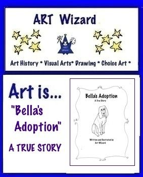 Dog Stories to Color and Read, Make Booklet, Read,Color (16 pgs)