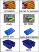 Art is ... Bilingual Art Supplies Photo Cards (English & Spanish) 10 pages
