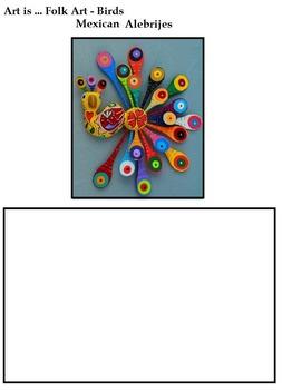 Art Science ... Birds in Folk Art (7 Printables with Teacher's Notes)
