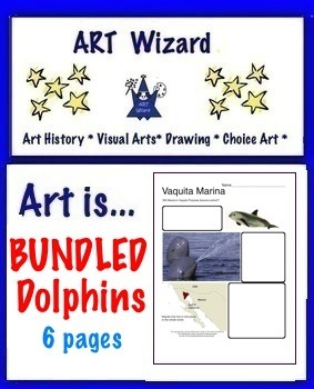 Bundled Dolphins, Porpoise (6 Printable Pages), Art Science