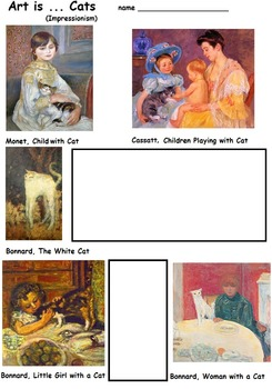 Cats in Art, Art Science, (10 Opened Ended  Printables)