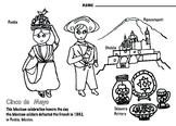 Cinco de Mayo Art  Coloring Page - Mexican Holiday