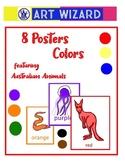 Art Elements, Australian Animals (18 pages) Posters, Colors, Art Lesson