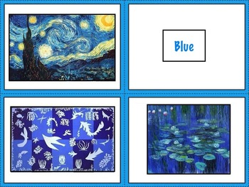 Art Elements - Color Matching Cards with Famous Artwork (6 pages)