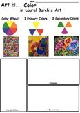 Art Elements -  Color in Laurel Burch's Art (7 Printable Worksheets)