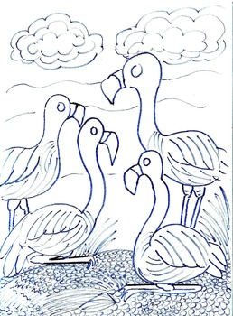 Art Science ... 6 Beautiful Bird Species Coloring Pages  (7 pages)