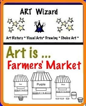 Art Elements - Colors at The Farmers' Market (5 Printable Pages) Art