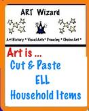 Art ... Free! Mi Casa Su Casa- What's Inside?  Color, Cut Out & Paste (K, ELL)