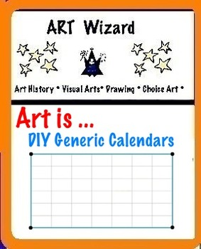 Art ... FREE! DIY Generic Monthly Calendar (3 pages)