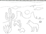 Art & Math Coloring Page - Desert  (2 pages)
