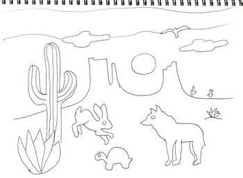 Desert Coloring Pages Worksheets Teaching Resources Tpt