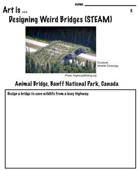 Art is ... Designing  Weird Bridges - STEAM (Photo References)